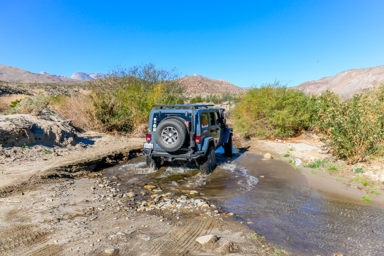 Anza Borrego State Park-second creek crossing in Lower Coyote Canyon