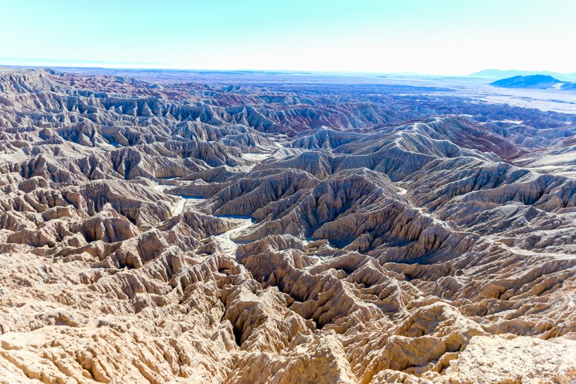 Font's Point looking east over the Badlands at Anza Borrego State Park