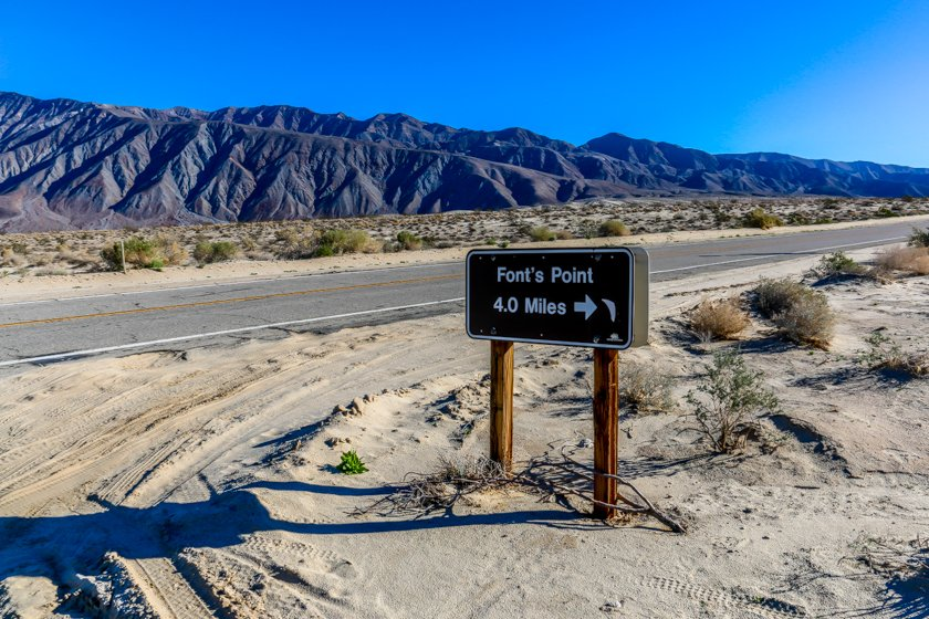 Entry To Fonts Point  Anza Borrego State Park