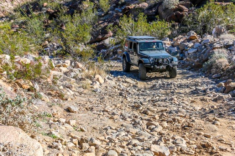 Anza Borrego State Park-Rocky climb into Collins Valley