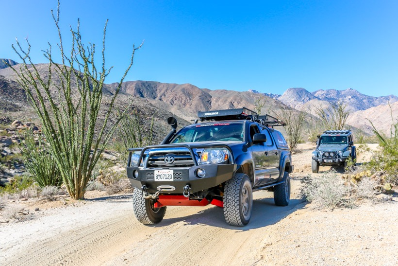 Anza Borrego State Park: entering Lower Coyote Canyon