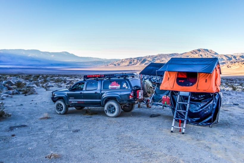 Death Valley-Camping at bottom of Lippencott