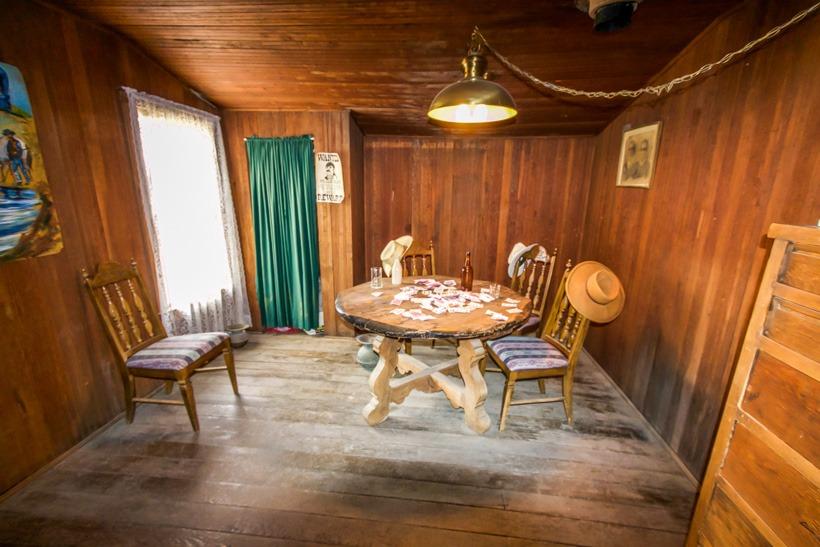 Death Valley Cerro Gordo Saloon card room