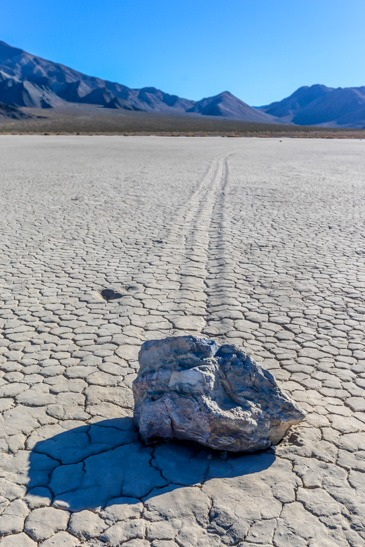 Moving rock The Racetrack Playa Death Valley National Park