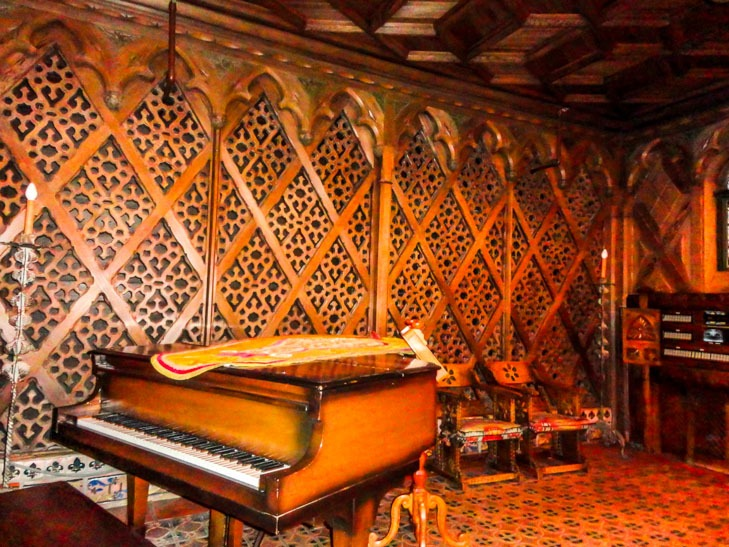 Piano room Scotty's Castle Death Valley