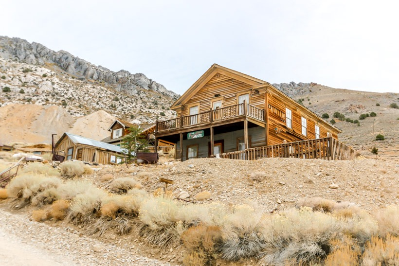 The American Hotel in Death Valley Cerro Gordo Ghost town
