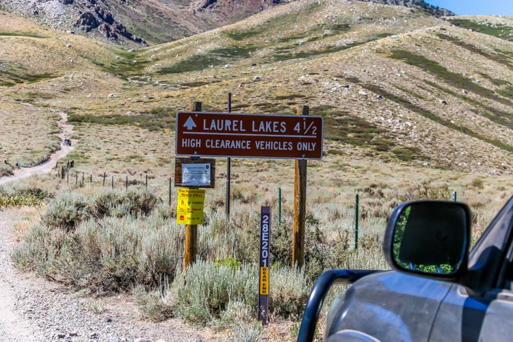 Inyo National Forest-Trailhead Laurel Lakes