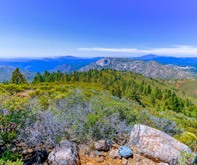 View to Mexico from top of Los Pinos Trail