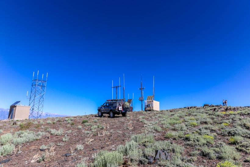 communication tower Mazourka peak