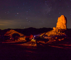 Night camp Trona Pinnacles