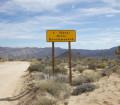 Warning marker Balck Eagle Mine Road-Joshua Tree National Park