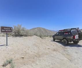 anza borrego state park the adventure portal Canyon Sin NombreTrail marker