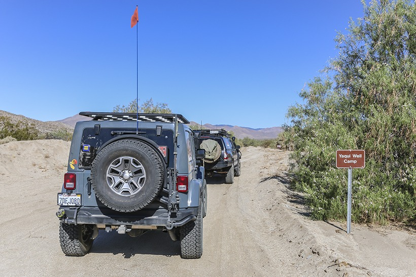 The Adventure Portal-Entering Grapevine Canyon Trail from the east-Anza Borrego