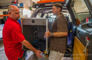 Goose Gear partners Matt Hebel and Brian Fulton working together on an install.