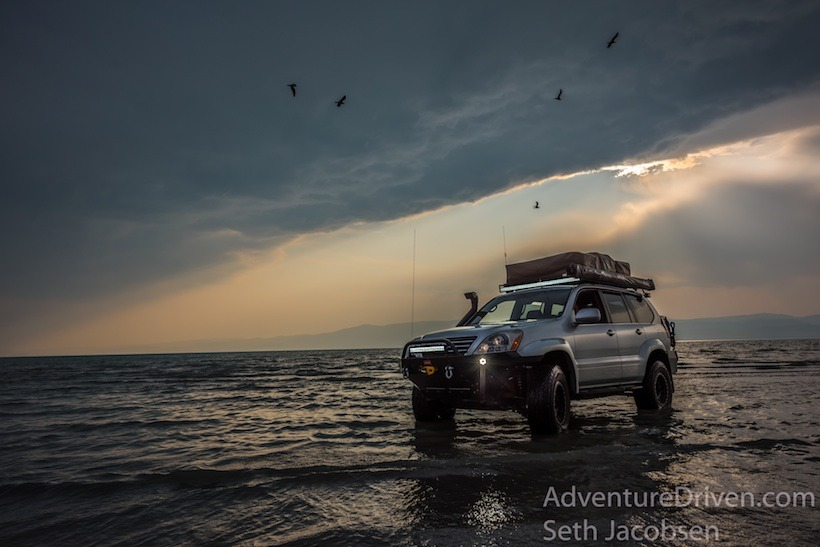 Lexus GX470 Adventure Driven sunset on water-1-2