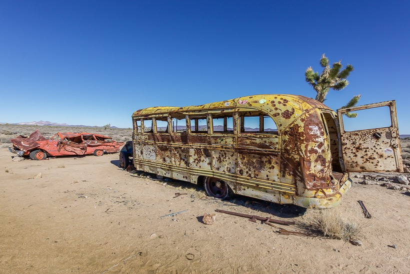 Mojave Road school bus