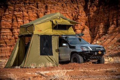 23Zero Roof top tent on lexy