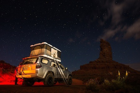 A James Baroud roof top tent on a Toyota 4Runner owned by American landscape photographer, Adam Schallau.