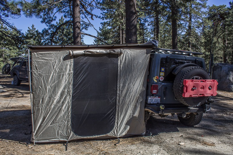 ARB Room used as a tent side view