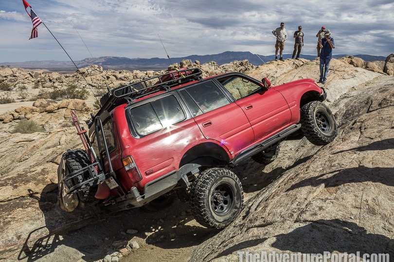 Tom Severin during a rock driving class in Johnson Valley CA