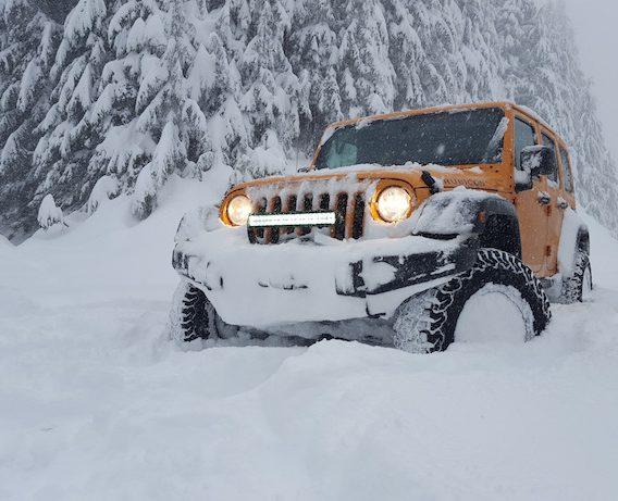 Ken Beahm snow crawling the adventure portal 4