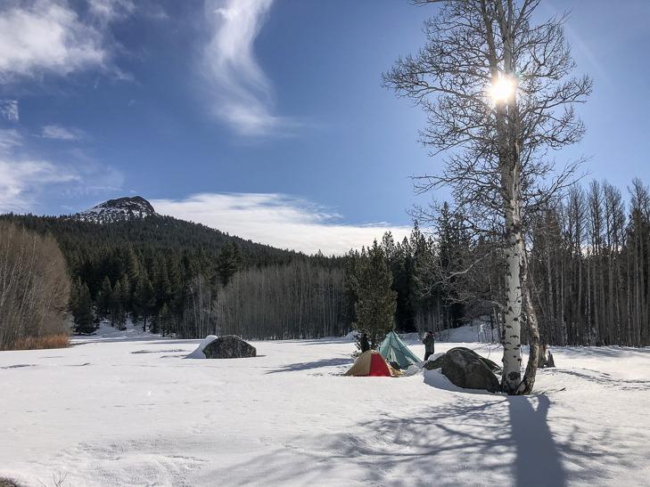 snow camping